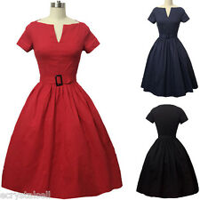VINTAGE 40S 50S STYLE ROCKABILLY PINUP SWING WRAP EVENING PARTY DRESS PLUS SIZE