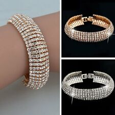 Hot Women Fashion Bracelets Bangles Rhinestone Crystal Wedding Gift New Punk New