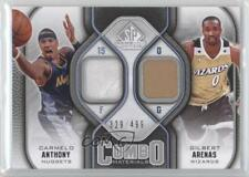 2009-10 SP Game Used Combo Materials #CM-AA Carmelo Anthony Gilbert Arenas Card