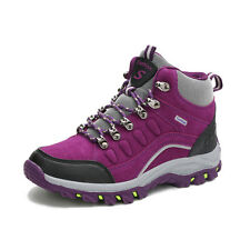 GOMNEAR women Fur Lined hiking boots athletic climbing non slip outdoor shoes
