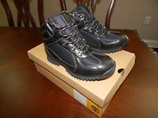 NEW Timberland BOYS 2.0 Euro Hiker Black BOOTS Style# 57909 Non-marking bottoms