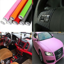3D Carbon Fiber Texture Vinyl Car Laptop Wrap Sheet Roll Film Sticker Decal DIY