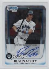 2011 Bowman Chrome Prospects Autograph #BCP212 Dustin Ackley Auto Baseball Card