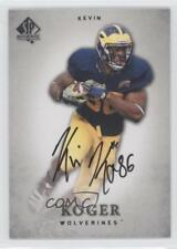2012 SP Authentic Autographs Autographed 49 Kevin Koger Michigan Wolverines Auto