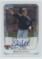 2011 Bowman Chrome Prospects Autograph Refractor #BCP212 Brock Holt Auto Card