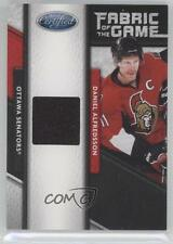 2011-12 Panini Certified Fabric of the Game Materials 101 Daniel Alfredsson Card