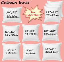 "Cushion Inserts Fillers Scatters Inners 12"" 14""16""18""20"" 22"" 24"" 26"" FREE P&P"