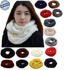 Winter Warm Knit Infinity Loop Thick Scarf Shawl Many Colors Women Fashion New