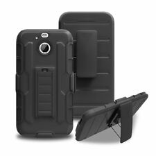 Hybrid Rugged Hard Armor Holster Case Stand Cover Belt Clip For HTC Bolt 10 Evo