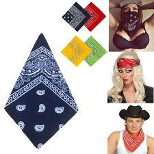 1pc Square Paisley Bandana Head Wrap Headband Neck Scarf Wristband Handkerchief