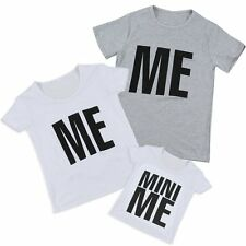 Women Men Mom Dad Kids Short Sleeve T-Shirt Family Clothes Couple Lover Tee Tops