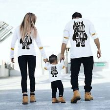 Daddy Mom Kids Monster Love Matching Shirts Family Clothes Couple T-Shirt Tops