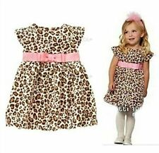 1Pc Toddler Leopard Clothing Kids Bowknot Outfit Set Baby Girl Dress X