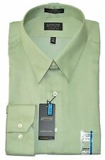 Arrow Classic Fit Light Sage Green Sateen Wrinkle Free Spread Collar Dress Shirt