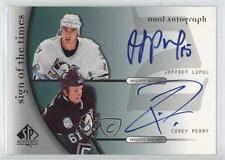 2005-06 SP Authentic Sign of the Times Dual #D-LP Joffrey Lupul Corey Perry Auto