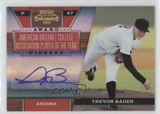 2011 Playoff Contenders Award Winners Signatures Autographed 6 Trevor Bauer Auto