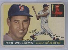 1955 Topps #2 Ted Williams Boston Red Sox Baseball Card