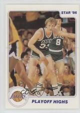 1985-86 Star Los Angeles Lakers NBA Champs #9 Larry Bird Boston Celtics Card
