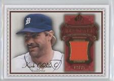 2009 SP Legendary Cuts Memorabilia Red #LM-GK2 Kirk Gibson Detroit Tigers Card