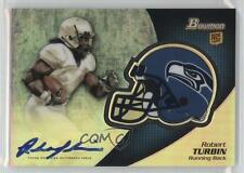 2012 Bowman Chrome Rookie Autographs #BCRA-RTU Robert Turbin Auto Football Card