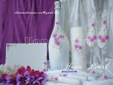 Purple Wedding Personalized Supplies Set Flutes Candle Reception Accesories Gift