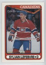 1990-91 O-Pee-Chee 159 Sylvain Lefebvre Montreal Canadiens RC Rookie Hockey Card