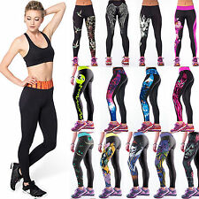 Women Gym Fitness Sport Yoga Printed Leggings Workout Stretch Skinny Tight Pants