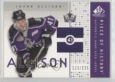 2002-03 SP Game Used Piece of History PH-AL Jason Allison Los Angeles Kings Card