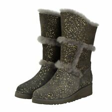 Charcoal Gold Sparkle Tall UGG Boot Made in Australia JUMBUCK UGG Boots 7 Lady