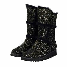 Gold Black Sparkle Tall UGG Boot Made in Australia JUMBUCK UGG Boots size 8 Lady