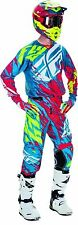 NEW 2017 FLY RACING YOUTH KIDS KINETIC RELAPSE TEAL RED MX JERSEY PANTS COMBO