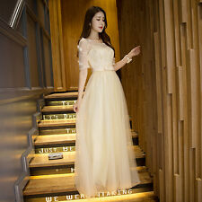 Long Chiffon Lace Gown Bridesmaid Dress Formal Evening Cocktail Party Prom Dress