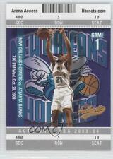 2003-04 Fleer Authentix #62 Jamaal Magloire New Orleans Hornets Basketball Card