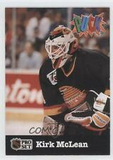 1991-92 Pro Set Puck #28 Kirk McLean Vancouver Canucks Hockey Card