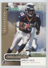2005 Upper Deck NFL Foundations Exclusive #29 Ashley Lelie Denver Broncos Card