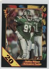 1991 Wild Card Draft 20 Stripe 102 Bobby Wilson Michigan State Spartans Football