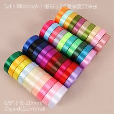 25 Yards 3/4'' (20mm) Satin ribbons Craft Wedding Party Decorations