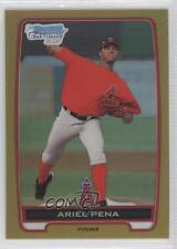 2012 Bowman Chrome Prospects Gold Refractor #BCP47 Ariel Pena Los Angeles Angels