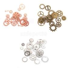 Antique Silver/Bronze Alloy Charms Wheel Gears Vintage Craft Watch Clock Parts
