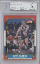 1986-87 Fleer #101 Jerry Sichting BGS 6 Boston Celtics RC Rookie Basketball Card