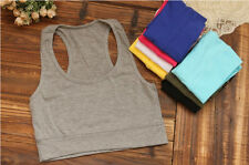 Top Sport Athletic Yoga Fashion Bra 1PC Cropped Tube Sleeveless Tank Racerback