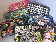 New VERA BRADLEY Turnlock Zip-Around Clutch ladies' Wallet - retired patterns