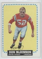 1964 Topps #14 Don McKinnon New England Patriots RC Rookie Football Card