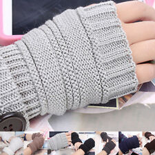 Wrist Arm Hand Warmer Mittens Knitted Fingerless Winter Gloves Fashion Men Women