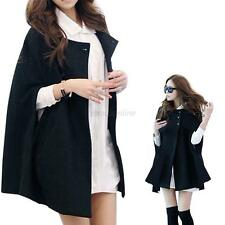 Women Batwing Wool Poncho Winter Warm Coat Jacket Loose Cloak Cape Parka Popular