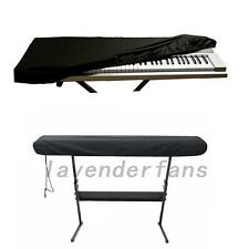 Black Dust-proof On Stage Keyboard Dust Cover for 61 or 88 Key Keyboards