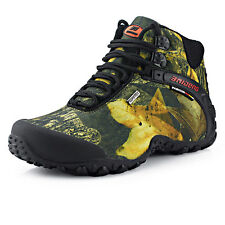 Gomnear Men Waterproof Trail Hiking Boots Outdoor Athletic Trail Climbing Shoes