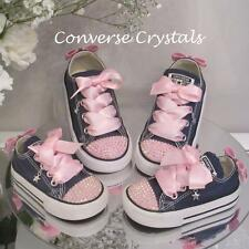 Baby Toddler Infant Custom Crystal *Bling* Converse Sizes 2-10