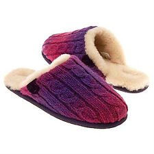 UGG Kids' Sweater Knit Scuffette  Crochet Slippers 13, 3, OR 1 Pink & Purple