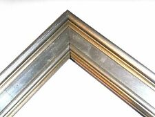 1 1/4 Small Aged Silver Leaf Plein Air Picture Frame-Custom Standard Size